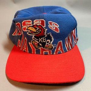 Vintage APEX ONE Kansas Jayhawks Snapback Cap Hat